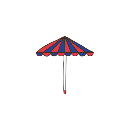Umbrella icon and background with flat design style for your logo or mascot branding Illusztráció