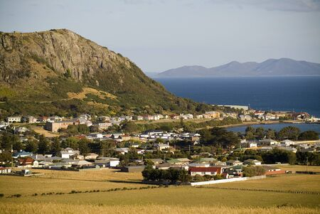 A sundown view of Stanley, Tasmania, Australia and its seaside setting. Stock Photo - 6949857