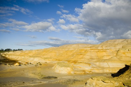 waste products: Waste products from years of gold mining take on strange forms