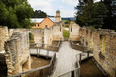 pauper: Views of the Paupers Mess in the historic Port Arthur, Tasmania, Australia Stock Photo