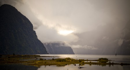 milford: The many moody shades of Milford Sound in the wet.