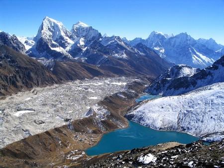 ri: View from Gokyo Ri in the Nepalese Himalaya Stock Photo