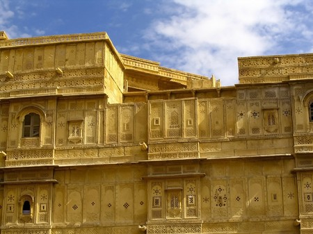 The amazing fort city of Jaisalmer in Rajasthan, India. photo