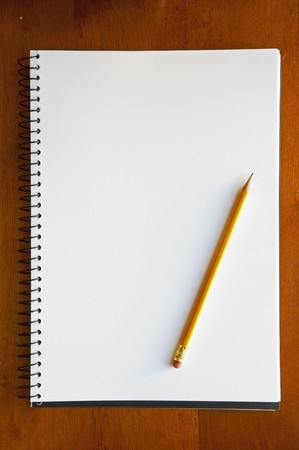 A large spiral bound notebook with blank pages Stock Photo - 8235061