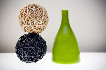 home decorating: Abstract compostion of home decorating items