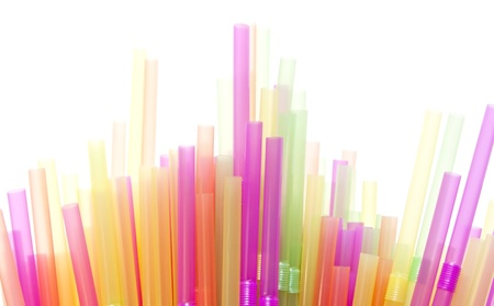 Drinking straws in many different colours Stock Photo - 8902977