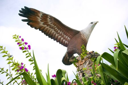 langkawi island: Statue of an eagle, the symbol of Langkawi, Malaysia Stock Photo