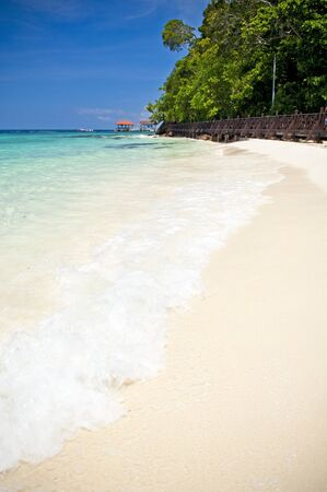 east coast: Perfect white sand beach in paradise location