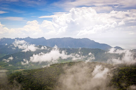 langkawi island: Majestic views of mist and forest on Langkawi Island, Malaysia Stock Photo