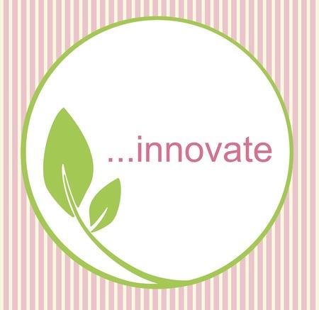 saludable logo: Logo fresco innovador con un c�rculo verde y la hoja, creando una sensaci�n org�nica, natural.