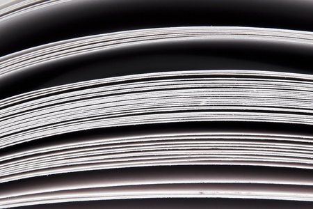 Abstract detail of thick paper pages in book photo