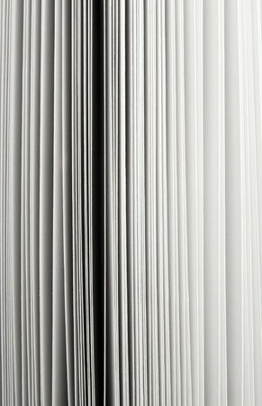 Abstract detail of thick paper pages in book