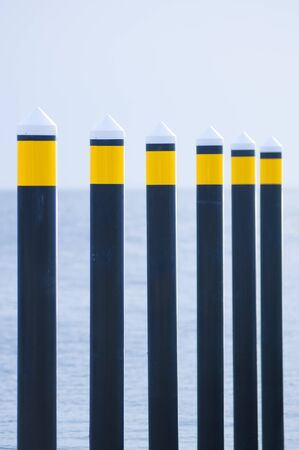 docking: Guide pylons for docking ships