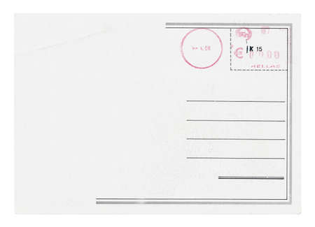 Blank postcards isolated in high resolution Stock Photo - 12596664