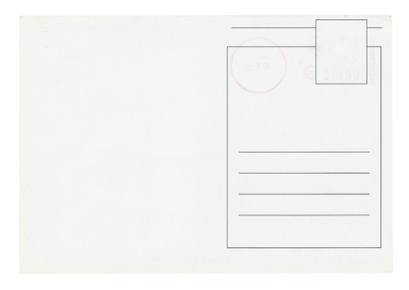 postcard back: Blank postcards isolated in high resolution