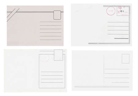 Blank postcards isolated in high resolution Stock Photo - 12596670