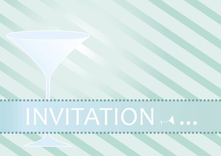 Invitation for cocktail party or fancy event Vector