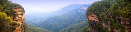 Panorama of the Blue Mountains, Australia near Sydney