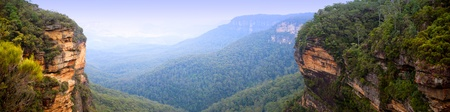 australia landscape: Panorama of the Blue Mountains, Australia near Sydney