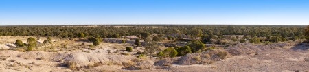 overburden: Panorama of opal mining fields in outback Australia