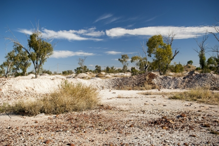 waste products: Opal fields and mining waste products in rural Australia Stock Photo