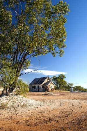 Old church in outback rural Australia under a blue sky Stock Photo - 14187913