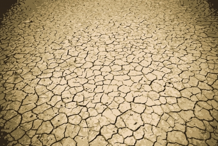 sequias: La tierra muy agrietados bajo un sol abrasador