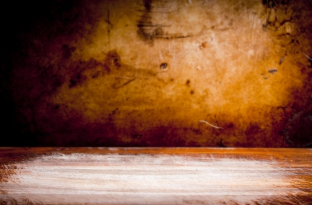 Vintage style grunge background of texture and light photo