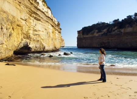 Loch Ard Gorge on the Great Ocean Road, Australia, near the Twelve Apostles Stock Photo - 16035267