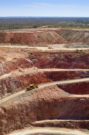 Mining in Australia at the Cobar mine site photo