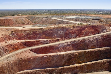 mine site: Mining in Australia at the Cobar mine site