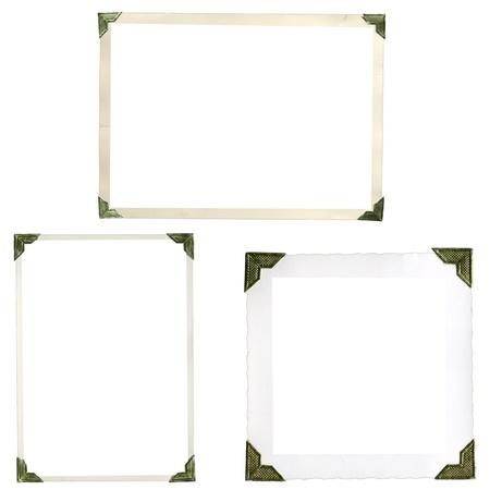 이전 그림의 모서리, 프레임 및 높은 해상도에서 흰색에 격리 가장자리의 컬렉션 스톡 콘텐츠