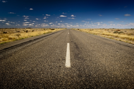 road marking: Open road ahead, endless road for concept