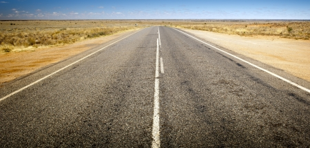 australian outback: Open road ahead, endless road for concept