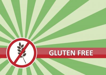 Glutine banner gratuito per il concetto di allergia alimentare