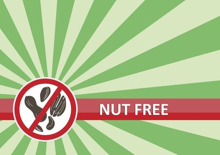 Nut free banner for food allergy concept Stock Vector - 16261382