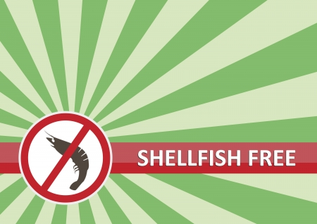 Shellfish free banner for food allergy concept Stock Vector - 16261413