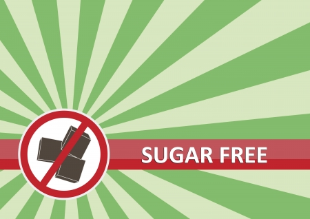 Sugar free banner for food allergy concept Vector