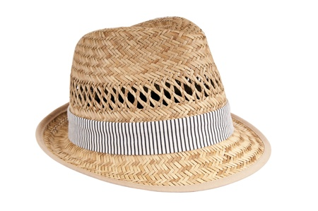 fedora: Classic fedora style hat isolated on white Stock Photo
