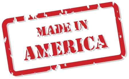 Red rubber stamp  of Made In America Stock Vector - 16945781