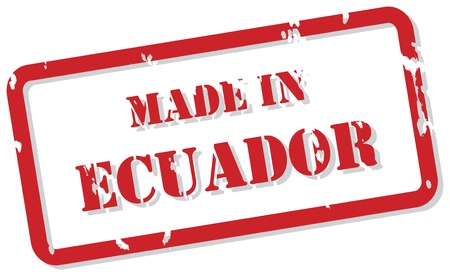 Red rubber stamp  of Made In Ecuador Stock Vector - 16945753