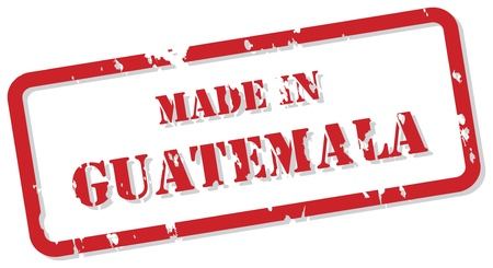 Red rubber stamp  of Made In Guatemala Stock Vector - 16945755