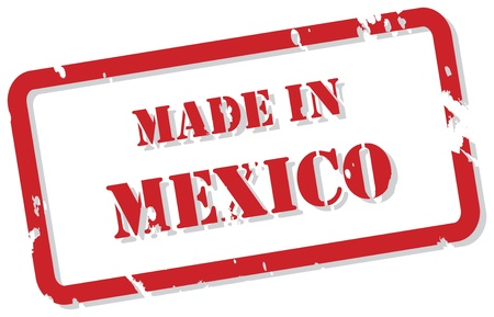 Red rubber stamp  of Made In Mexico Vector