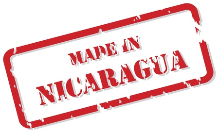 Red rubber stamp  of Made In Nicaragua Stock Vector - 16945754