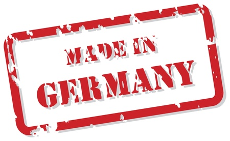 Red rubber stamp vector of Made In Germany Vector