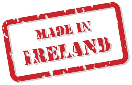 Red rubber stamp vector of Made In Ireland Stock Vector - 17092940