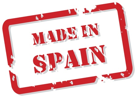 Red rubber stamp vector of Made In Spain Vector