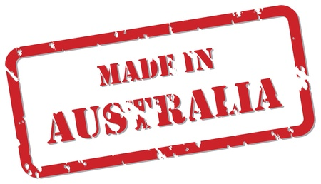 Red rubber stamp vector of Made In Australia Stock Vector - 17195686