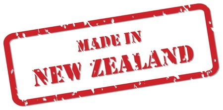 Red rubber stamp vector of Made In New Zealand Stock Vector - 17195680