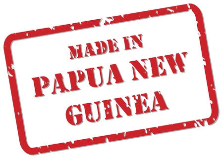 png: Red rubber stamp vector of Made In Papua New Guinea Illustration